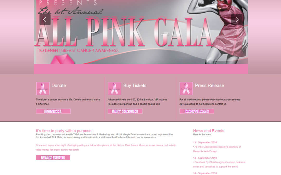All Pink Gala – Designs and Website