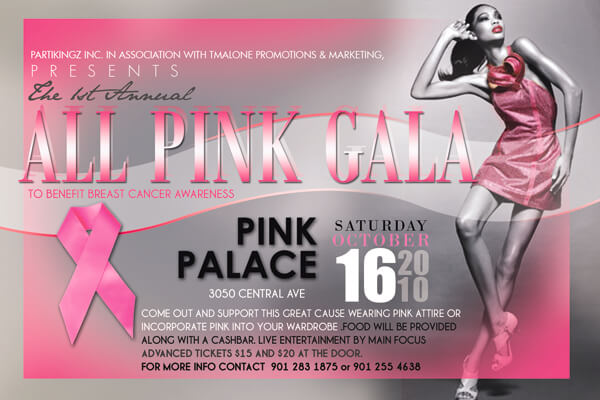 1st Annual All Pink Gala – Time to party for a purpose!