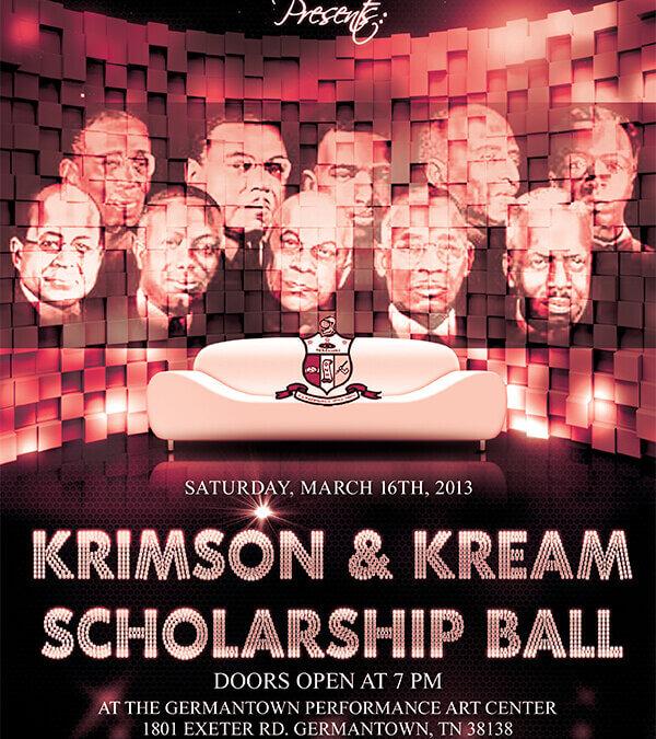 Kappa Alpha Psi – Krimson & Kream Ball Flyer