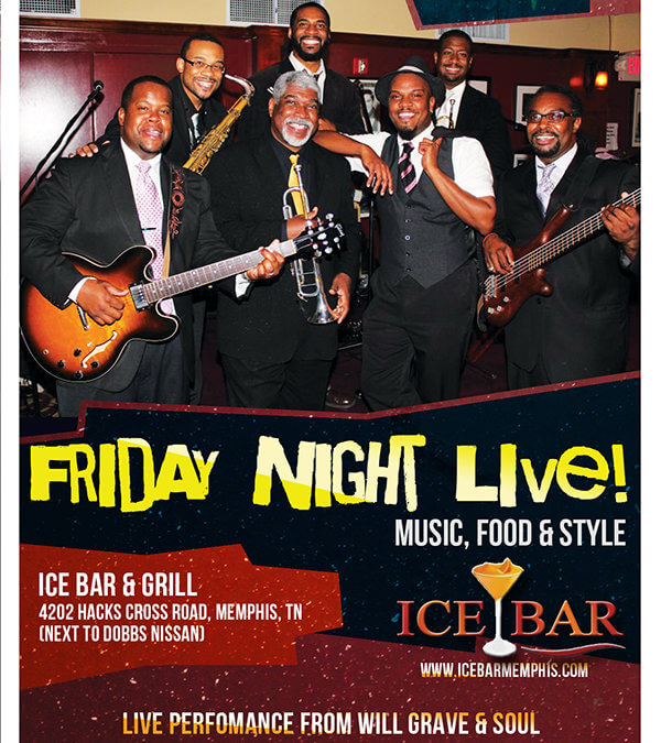 Ice Bar & Grill – Friday Night Live Flyer