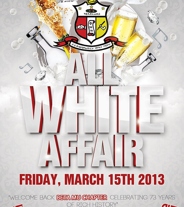 Kappa Alpha Psi – All White Affair Flyer Front
