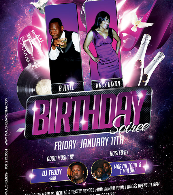 BHall Birthday Flyer