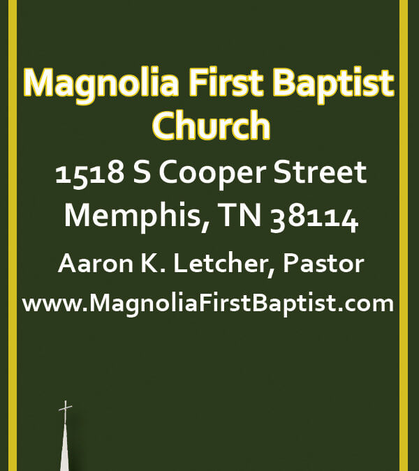 Magnolia First Baptist Bookmark (Back)