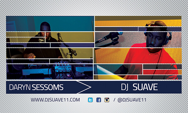 Dj Suave Business Card (Back)