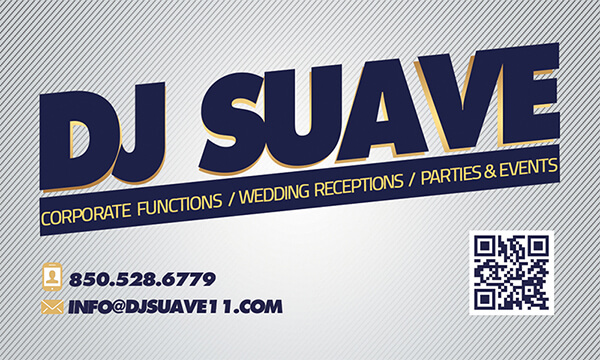 Dj Suave Business Card (Front)