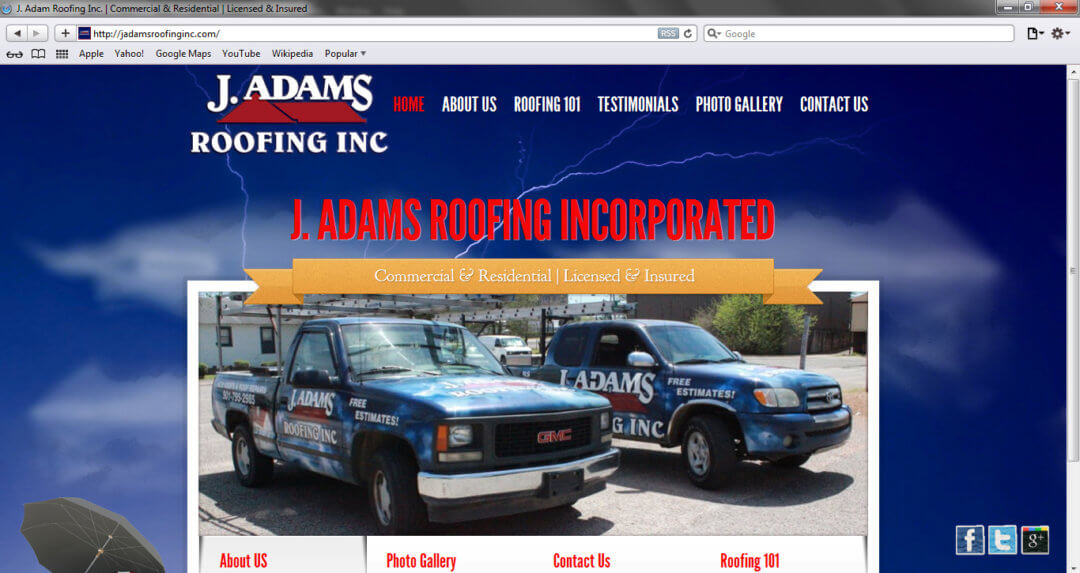 J Adams Roofing Inc.