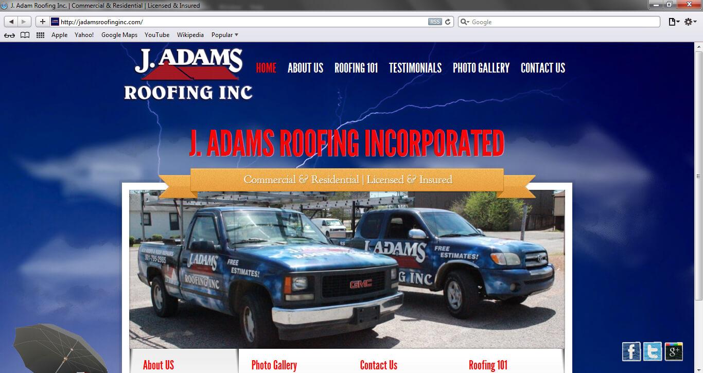 J Adams Roofing Inc.