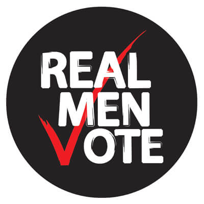 Real Men Vote Logo