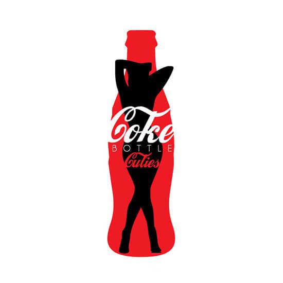 coke bottle cuties logo designed by