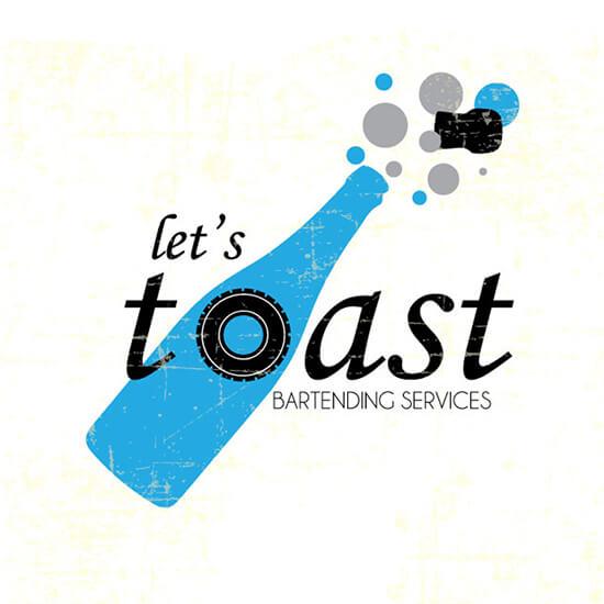 Let's Toast Bartending Logo