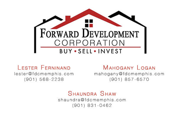 Forward Development Corp Business Card Front