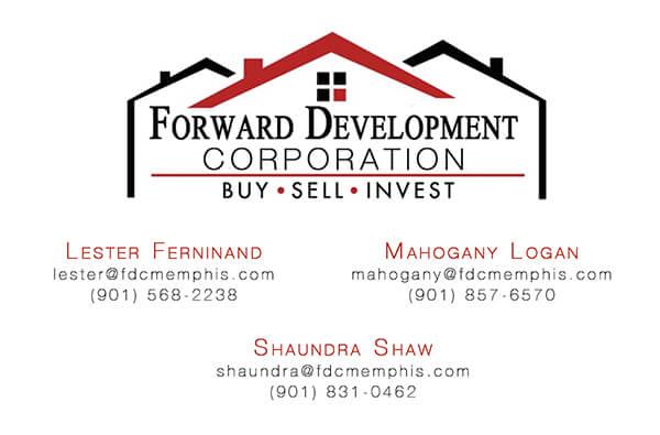 Forward Development Corp Business Card Front