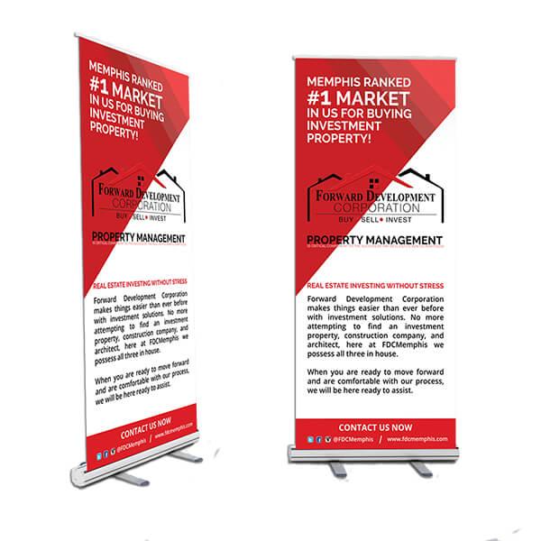 Forward Development Corp 6ft Pop-up Banner