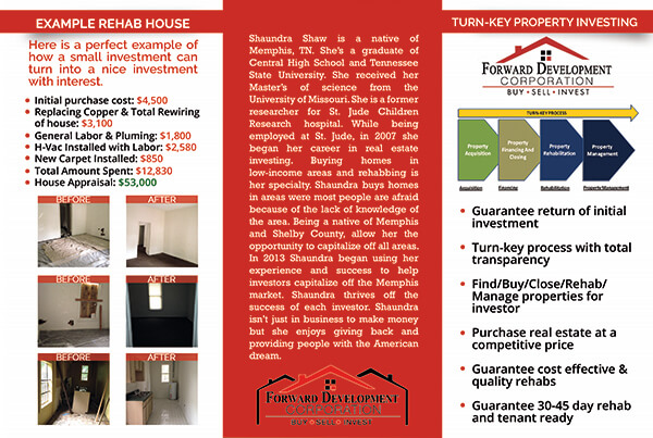 Forward Development Corp | Brochure Design Inside