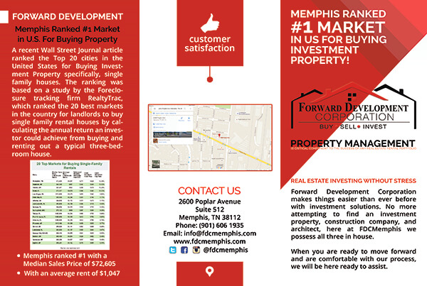 Forward Development Corp | Brochure Design Outside