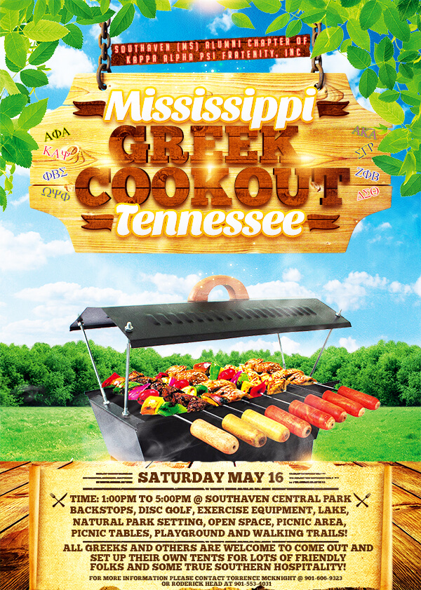 Greek Cookout Flyer