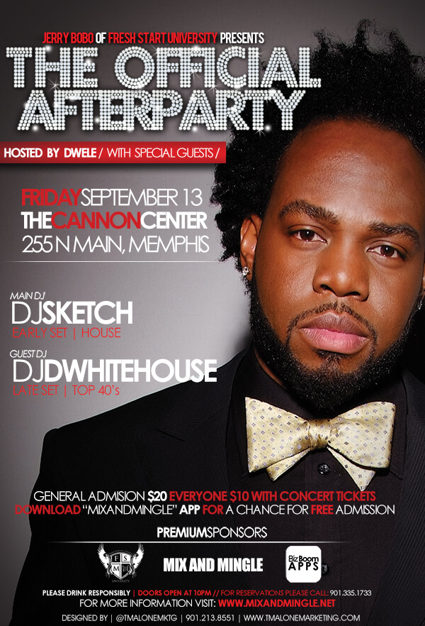 after party flyer tmalone marketing