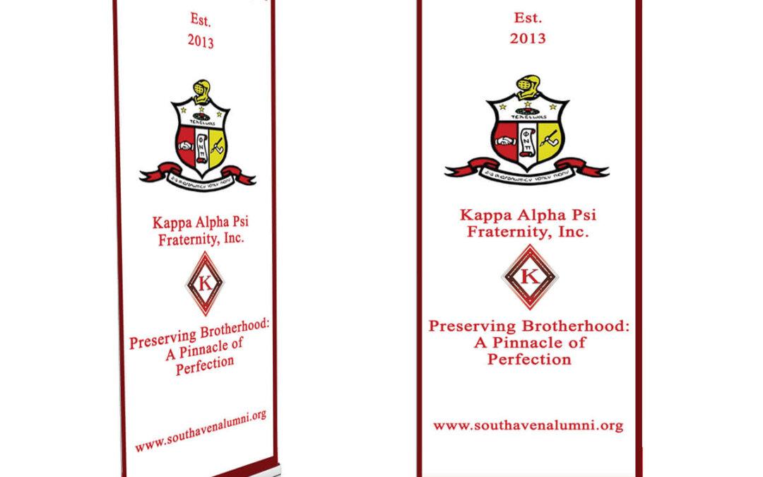 Kappa Alpha Psi 6ft Pop-up Banner