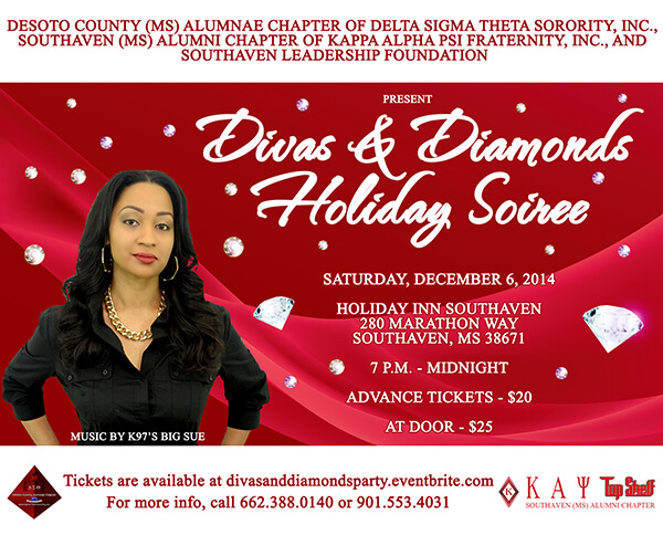Kappa Alpha Psi – Kappa Diamond Soiree Flyer