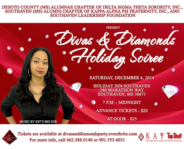 Kappa Alpha Psi – Kappa Diamond Soiree Flyer