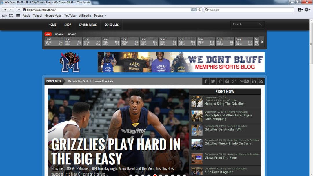We Don't Bluff Sports Blog