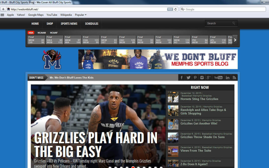 We Don't Bluff Sports Blog