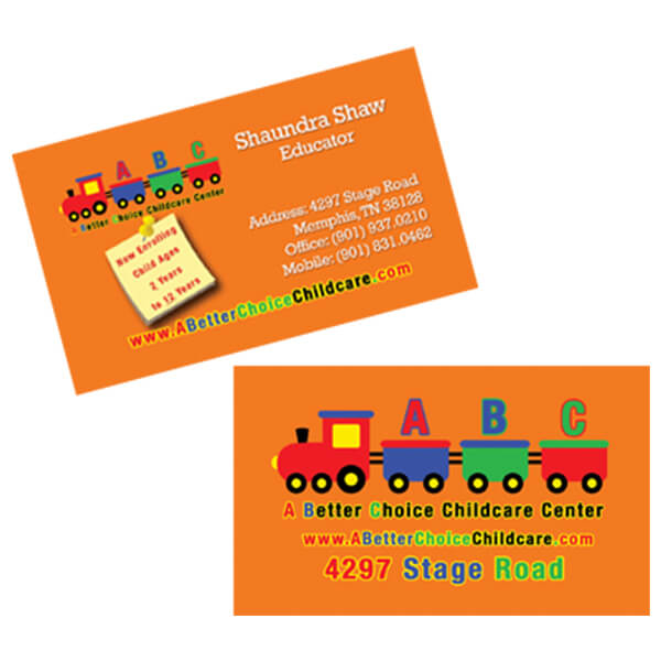 A Better Choice Childcare Business Card
